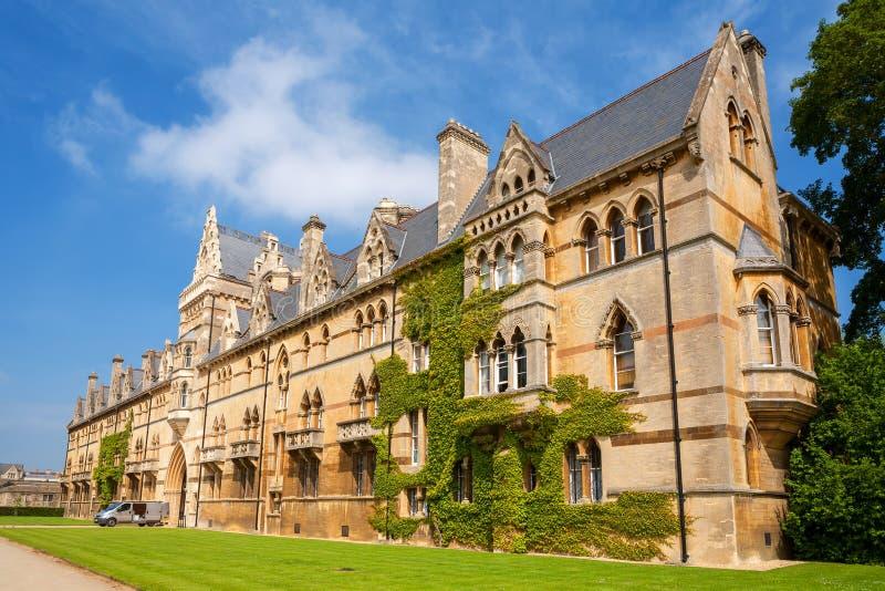 Faculdade da igreja de Cristo. Oxford, Reino Unido fotos de stock royalty free