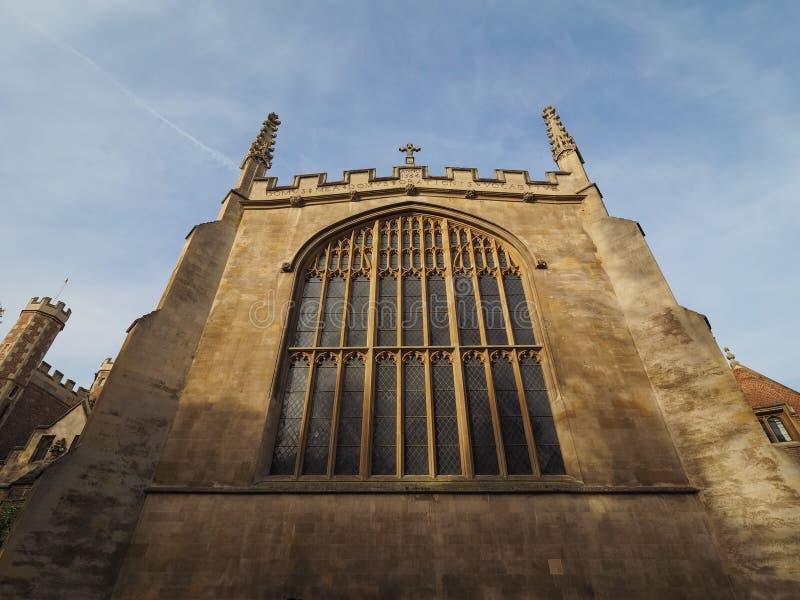Faculdade da trindade em Cambridge imagens de stock royalty free
