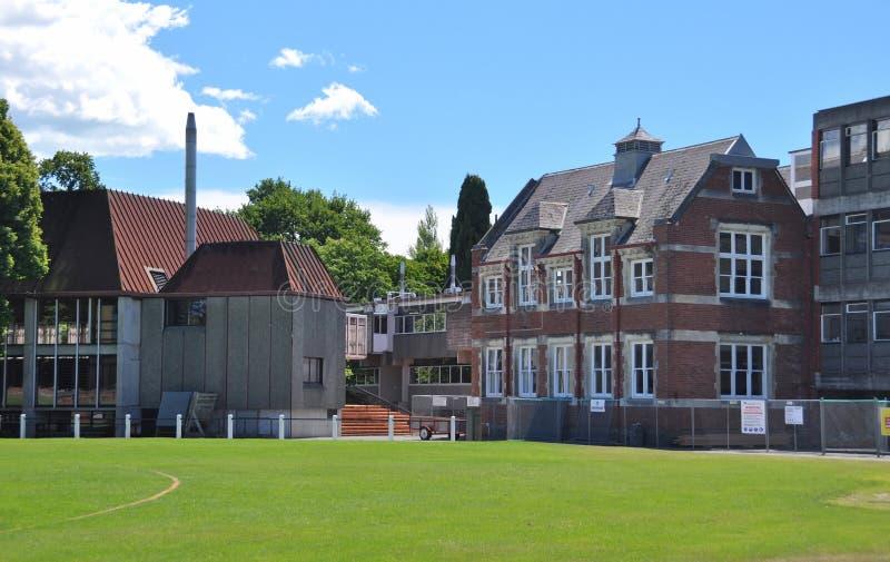 Faculdade de Christ, Christchurch, Nova Zelândia fotos de stock royalty free