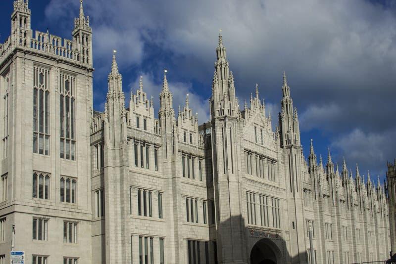 Faculdade de Marishall, Aberdeen, Reino Unido Aberdeen, Escócia, Reino Unido imagens de stock royalty free