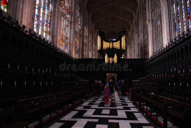 A faculdade do ` s do rei é uma faculdade da universidade de Cambridge em Inglaterra fotografia de stock royalty free