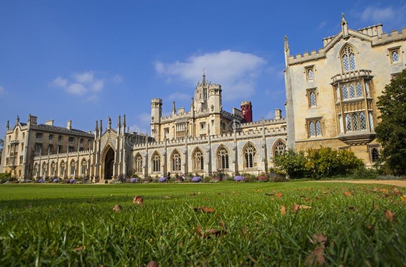 Faculdade do St John em Cambridge foto de stock