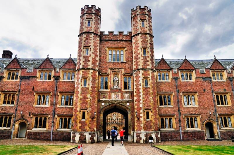 Faculdade do St. John, Universidade de Cambridge imagens de stock