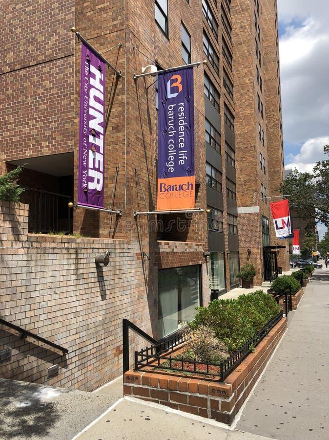 Faculdade e Hunter College de Baruch da vida da residência imagem de stock royalty free