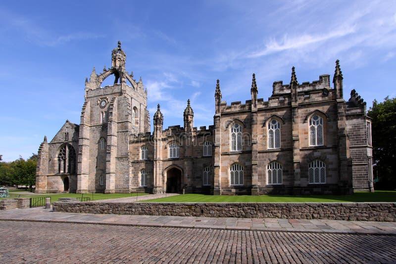 Faculdade Edifício da universidade de Aberdeen do rei imagem de stock