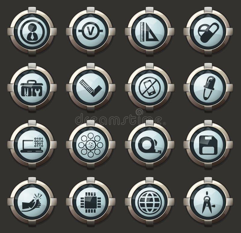 Facultad de sistema de los iconos de los mecánicos libre illustration