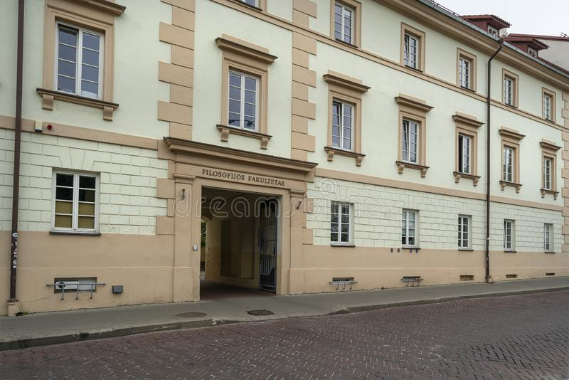 Faculteit van filosofie van de Universiteit van Vilnius royalty-vrije stock fotografie