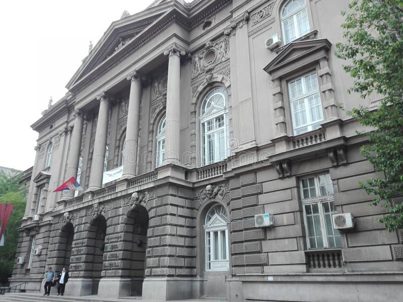 Faculteit van tehnical studies Belgrado stock fotografie