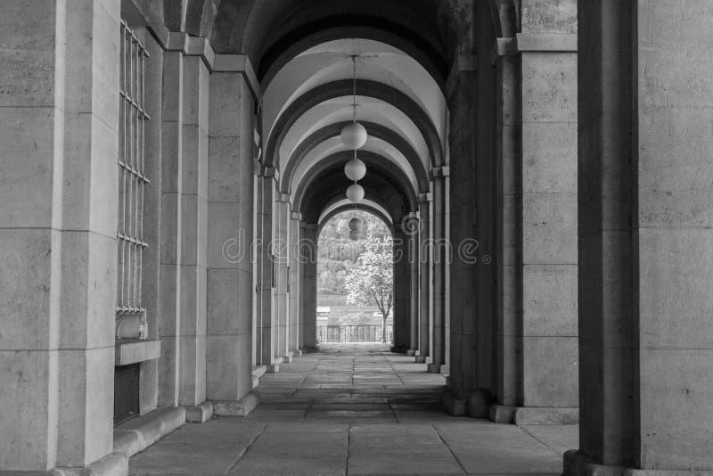 Faculteit van wet Charles University stock afbeeldingen