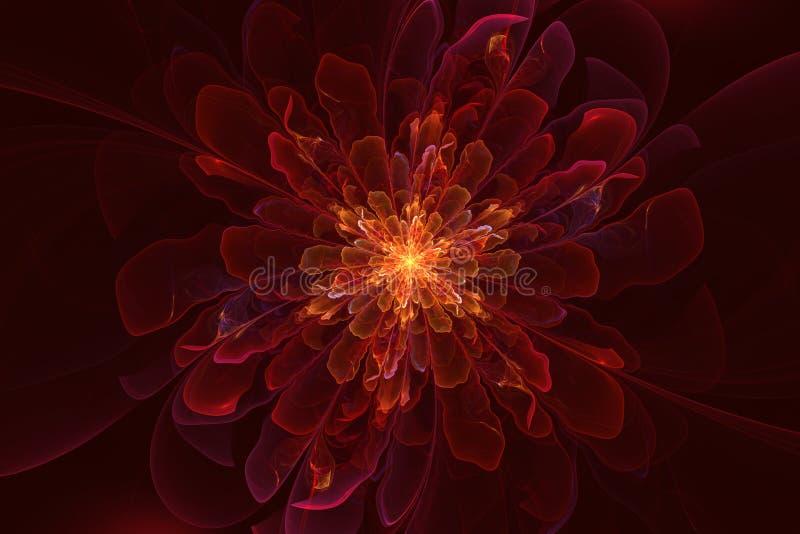 Fada da flor do Fractal ilustração royalty free