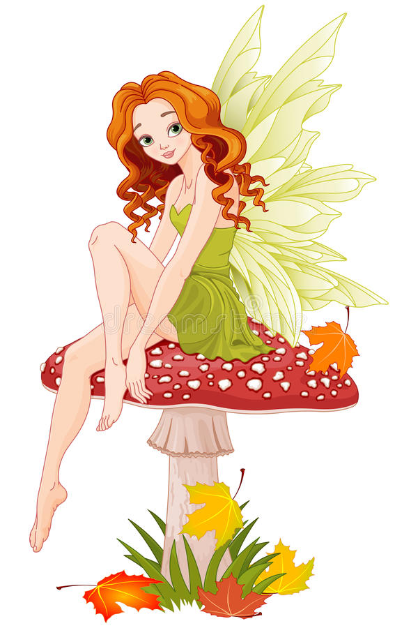 Fada do cogumelo ilustração royalty free
