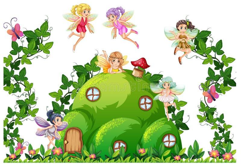 Fada na casa do monte ilustração royalty free