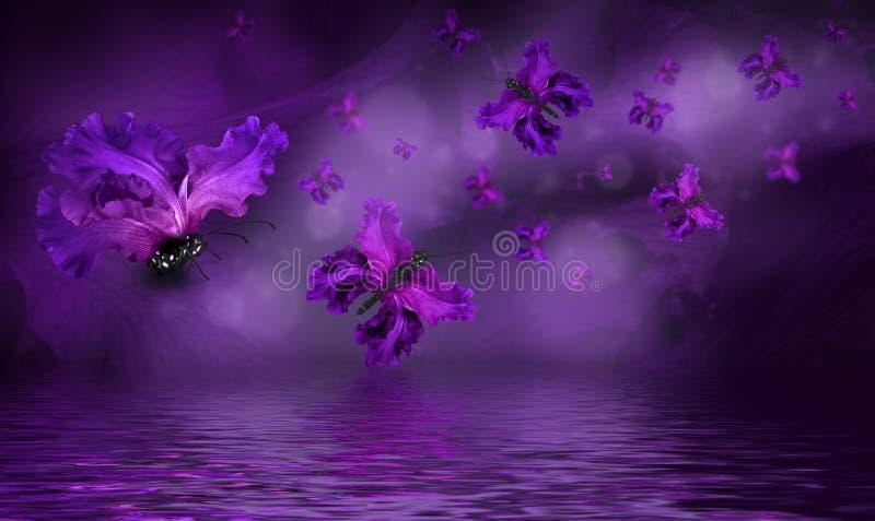 Fada surpreendente da borboleta ilustração royalty free