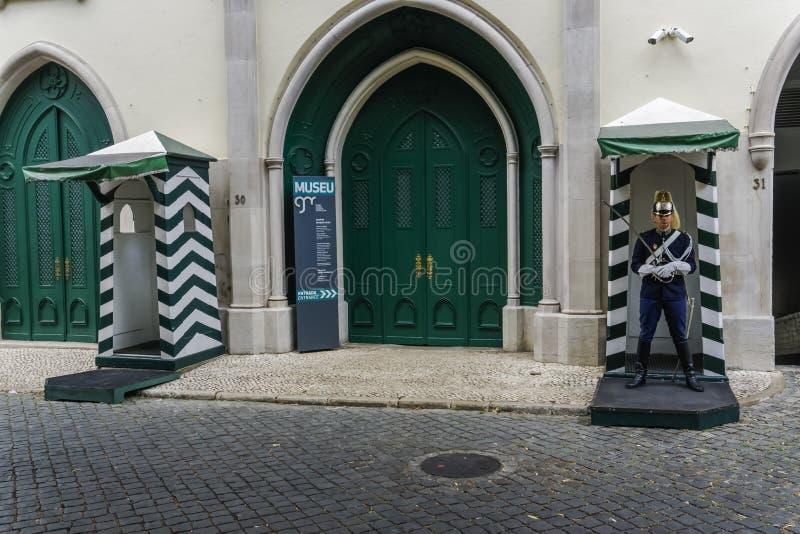 Fadade музея национальной гвардии Лиссабона, Португалии республиканское стоковое изображение