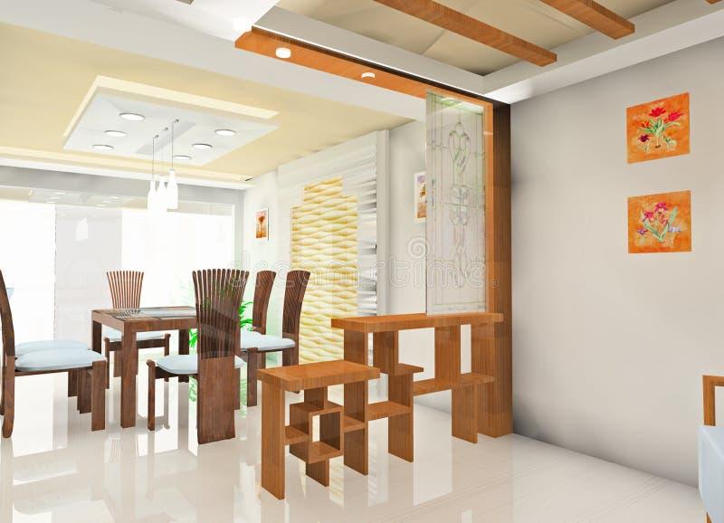 Faddish kitchen royalty free illustration