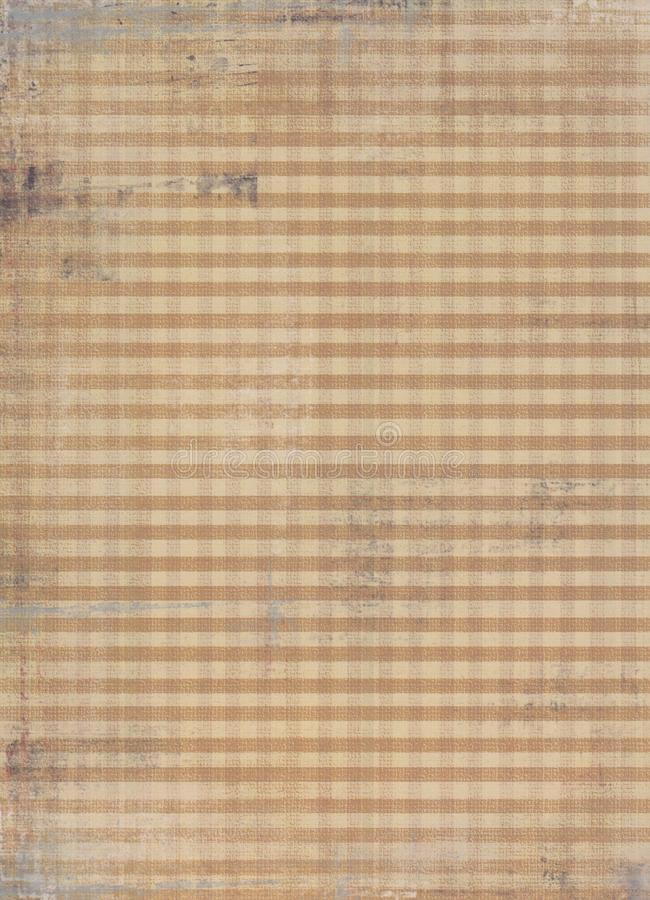 Faded Dirty Checked Fabric Stock Image