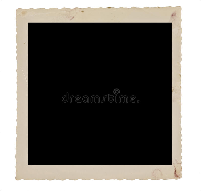 Faded And Dirty Square Photo Border From The Fifties. Close up isolated shot of a faded and dirty square photo border from the fifties royalty free stock photos