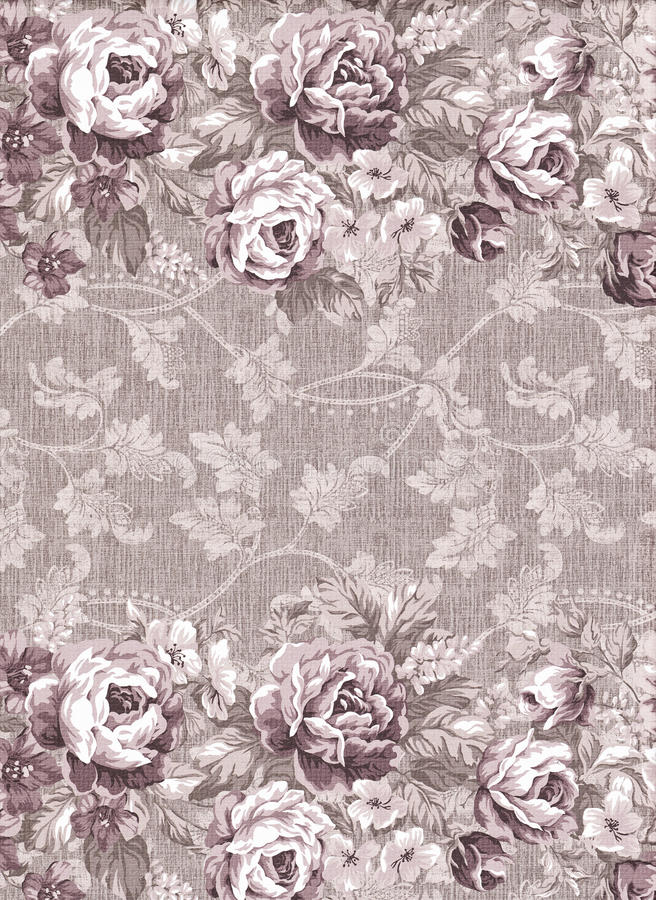 Faded floral pattern royalty free illustration