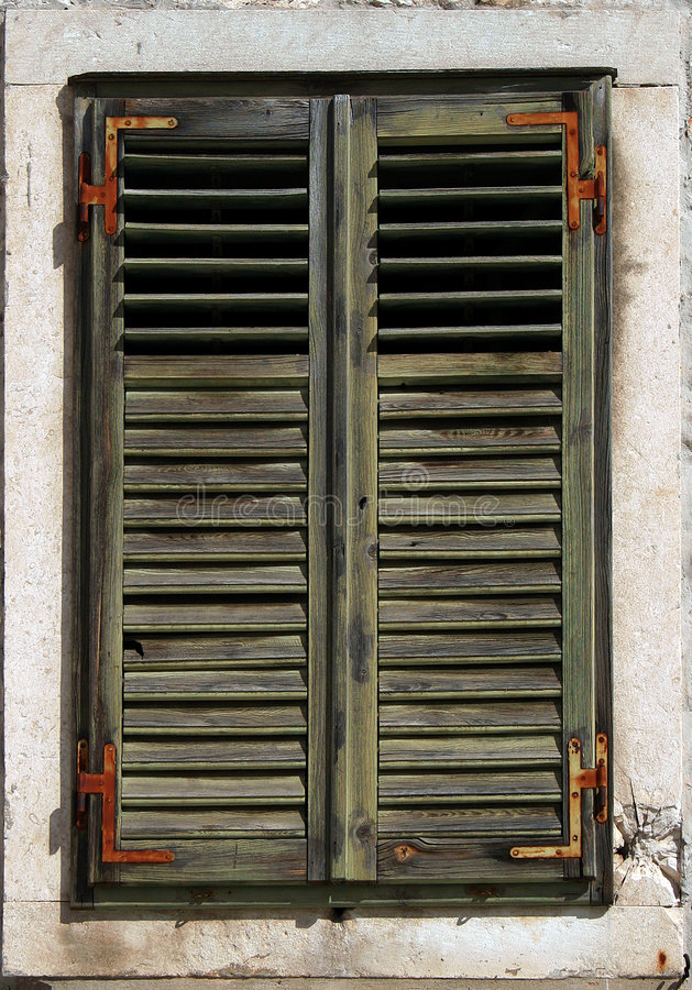 Free Faded Green Window Shutters Stock Photography - 3635192
