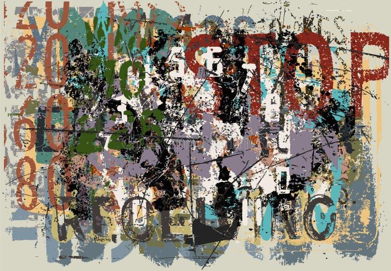 Faded grunge background royalty free illustration