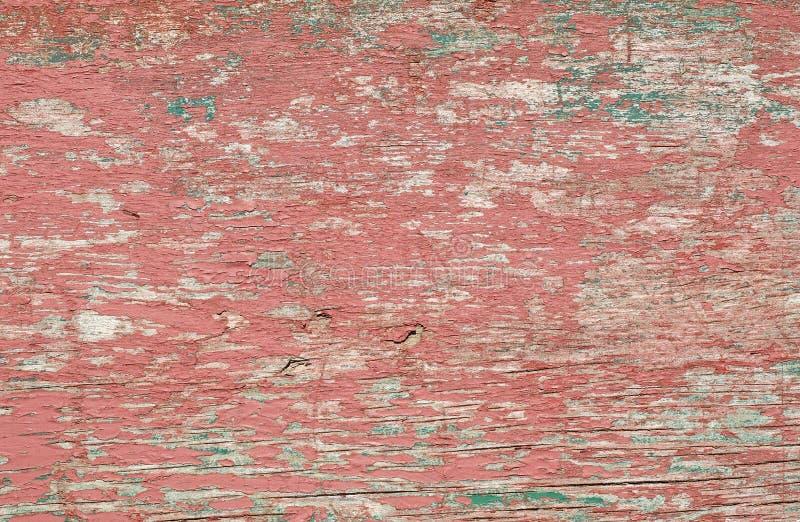 Faded ha dipinto il rosso ed il verde immagine stock