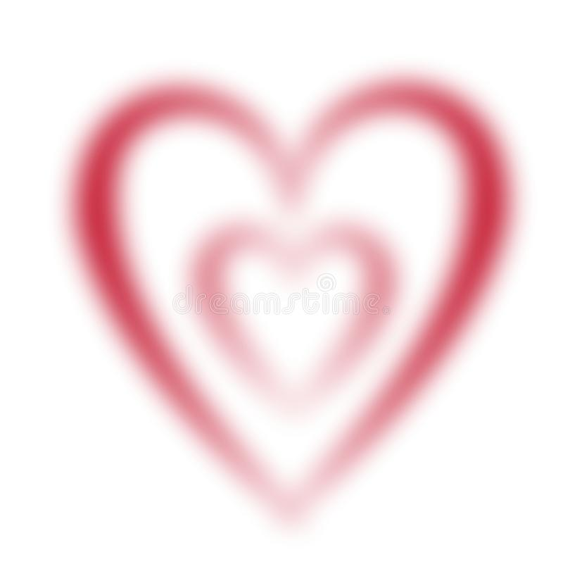 Download Faded hearts stock illustration. Image of blurry, love - 11265192