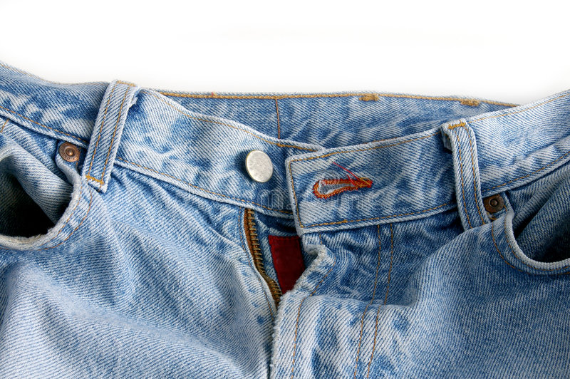 Faded jeans stock photo