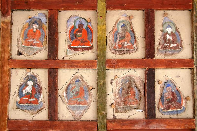 Download Faded Ladkahi Buddhist Paintings Stock Image - Image: 18345539