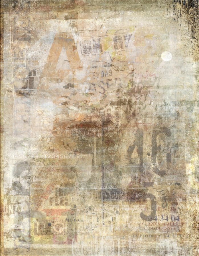 Free Faded Newspaper Background Royalty Free Stock Photos - 15291658