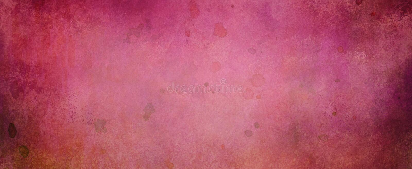 Painted texture background with watercolor paint drips and spatter and dark grunge border in shades of pink purple and red stock photos