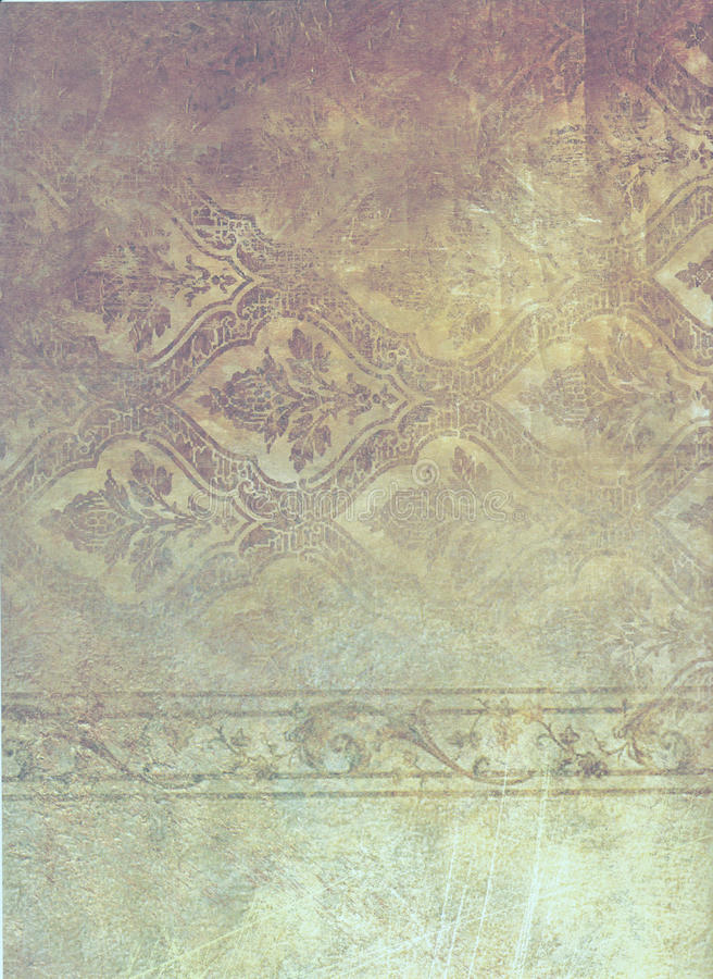 Faded patterned paper royalty free illustration