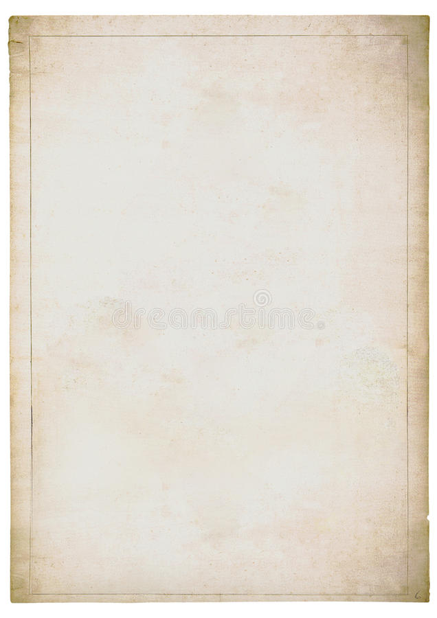 Free Faded Sheet Of Old White Paper Stock Photo - 14342700