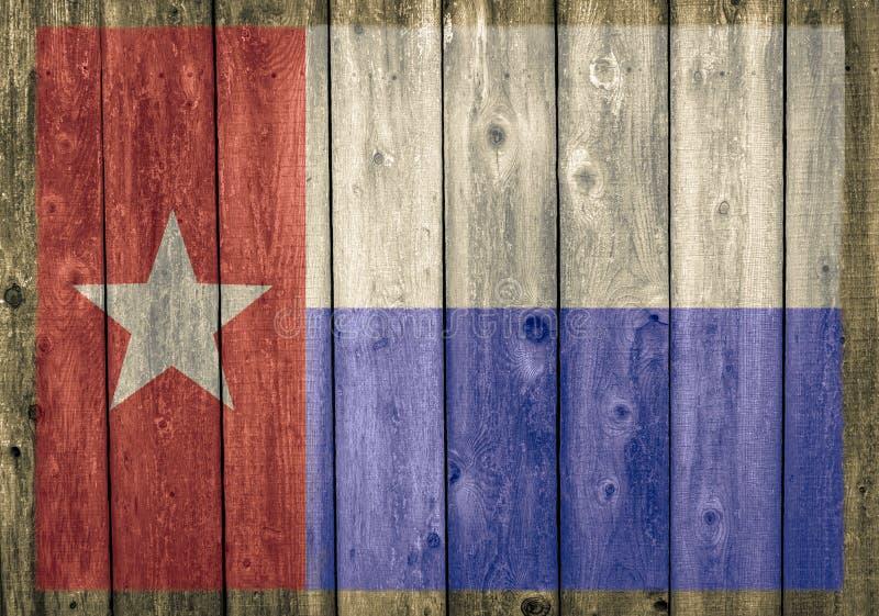 Faded Texaanse staatsvlag op weergalmwand royalty-vrije stock fotografie