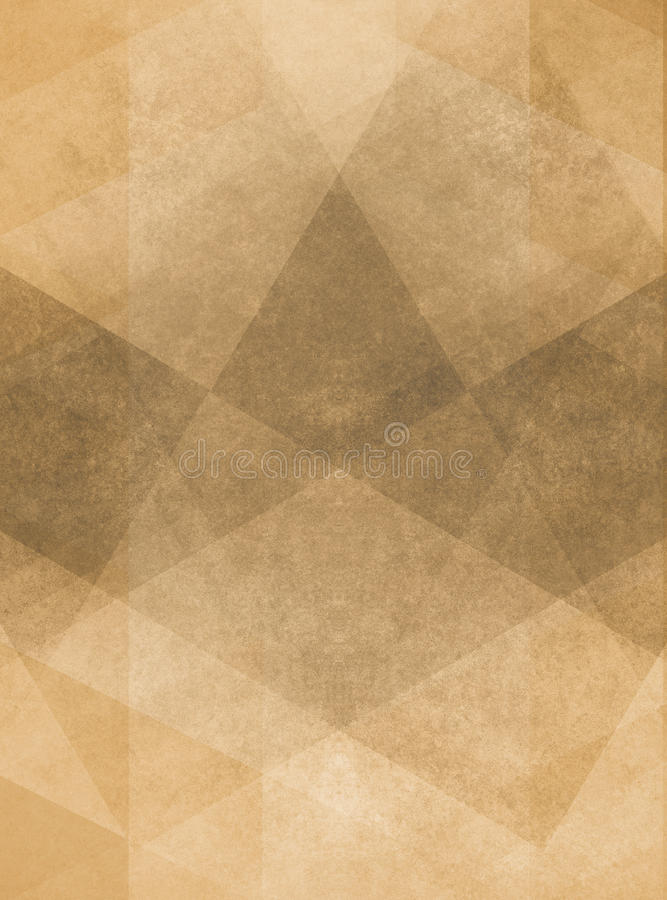Faded Vintage Brown Background Illustration With Layered