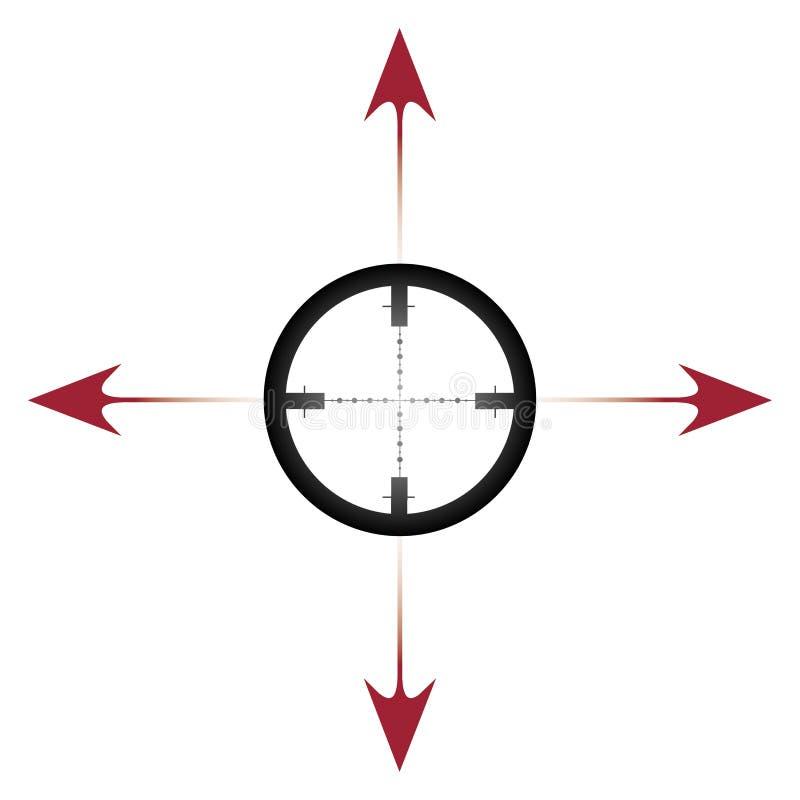 Fadenkreuz vektor abbildung