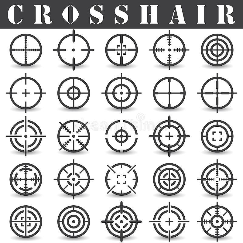 Fadenkreuz Ikonen eingestellt in Vektor vektor abbildung