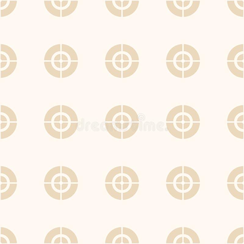 Fadenkreuz, Ziel, Muster des optischen Anblicks vektor abbildung