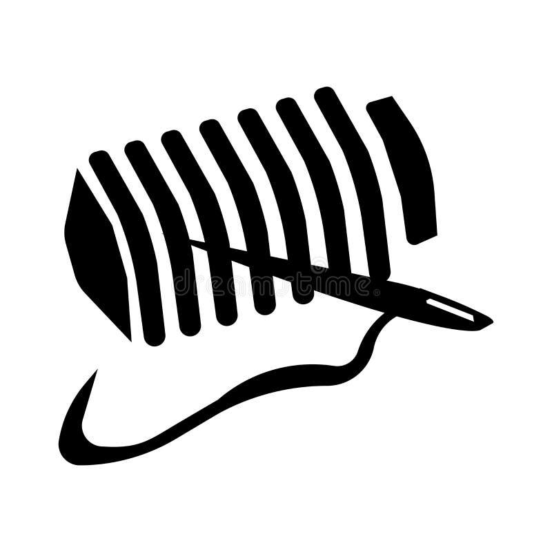 Fadenspulenikonenvektorzeichen und -symbol lokalisiert auf weißem Hintergrund, Fadenspulen-Logokonzept vektor abbildung