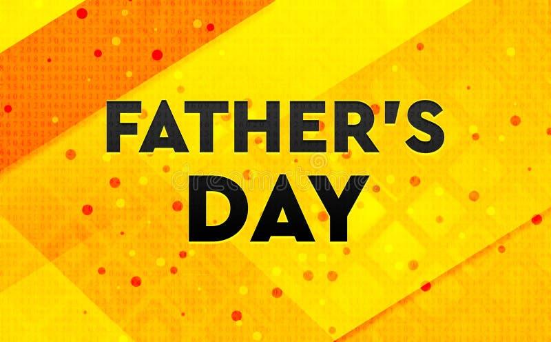 Fader \ 'bakgrund för abstrakt digitalt baner för s-dag gul royaltyfri illustrationer