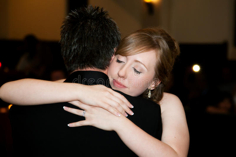 Fader Daughter Wedding Dance royaltyfri foto