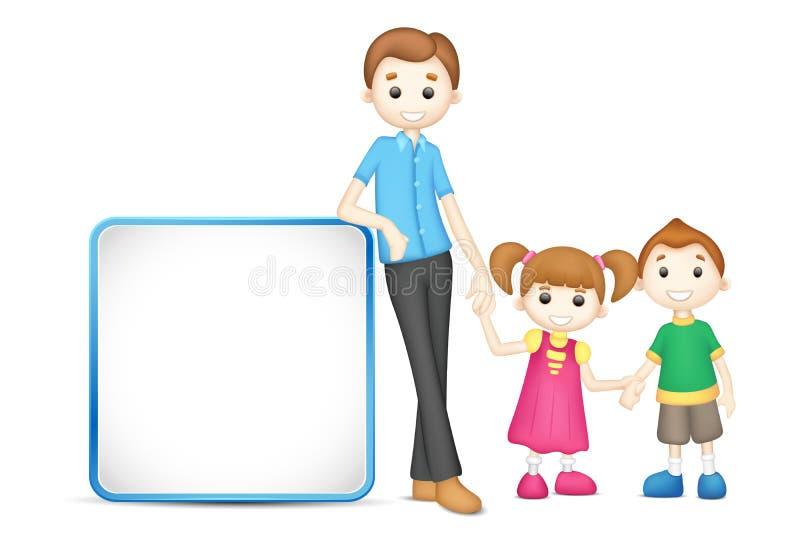 Fader och barn vektor illustrationer