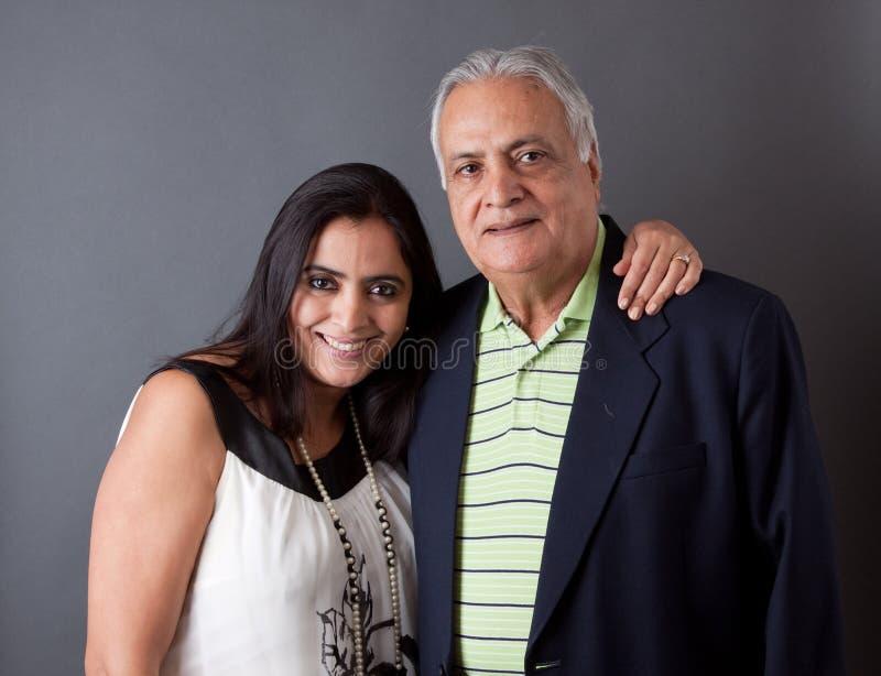 Fader och dotter för östlig indier arkivfoton