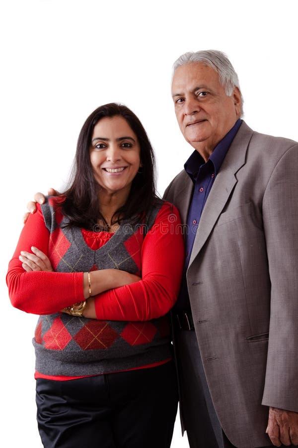 Fader och dotter för östlig indier royaltyfri foto
