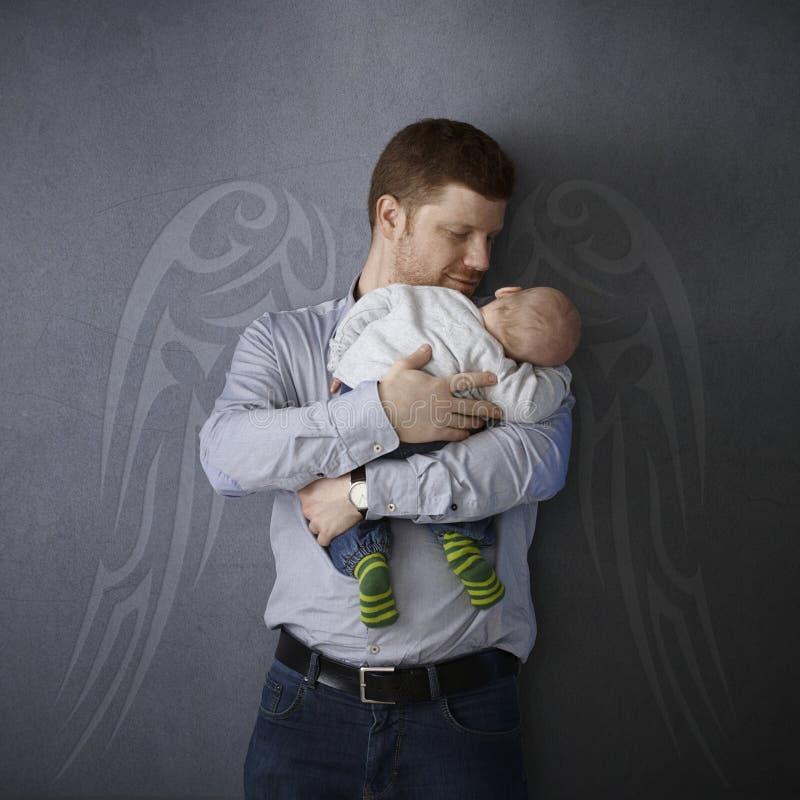 Fader och son royaltyfria bilder