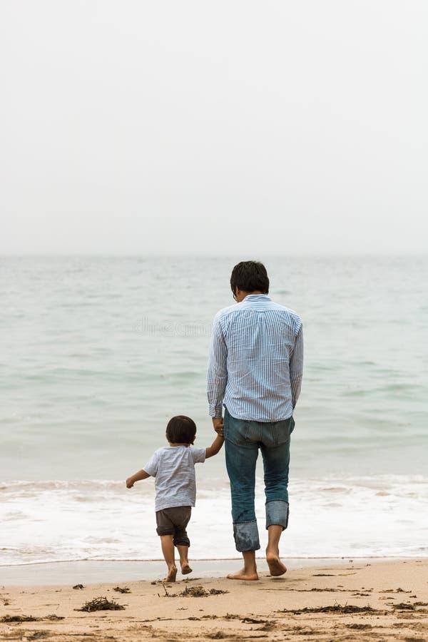 Fader & son fotografering för bildbyråer