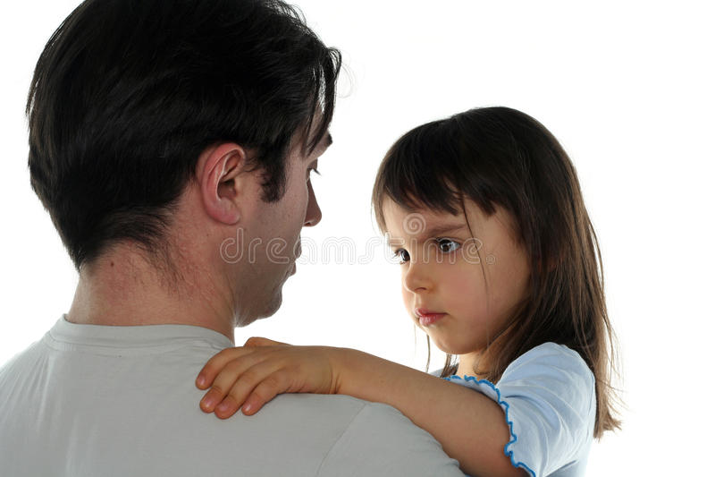 faderflicka henne little arkivfoton