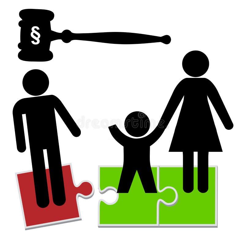 Fadern förlorar barnarrest royaltyfri illustrationer