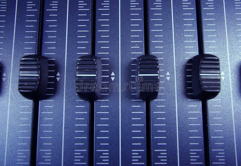 faders audio zdjęcie stock