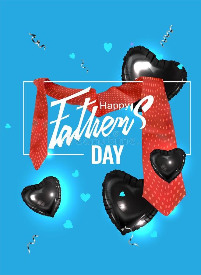Faders baner för dag med det röda bandet royaltyfri illustrationer