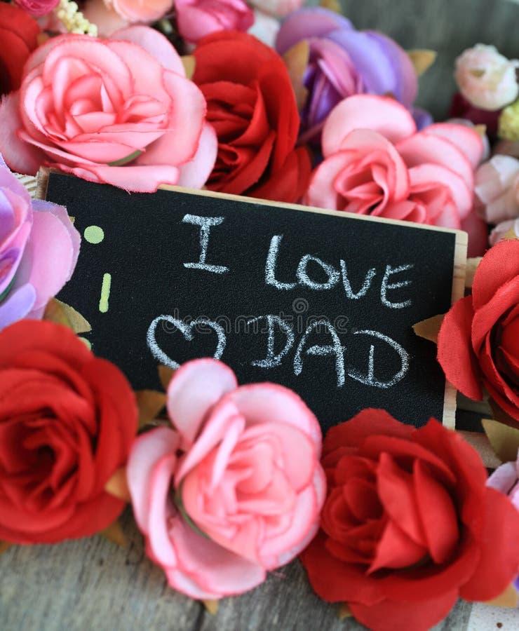 Faders meddelande för dag royaltyfri bild